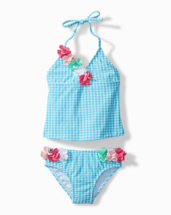 Toddler Gingham Tankini Swim Set