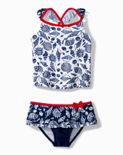 Toddler Seashell By Seashore Tankini Swim Set