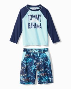 Toddler Hidden Shore Rash Guard Set
