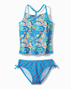 Big Girls' Paisley Tankini Swim Set