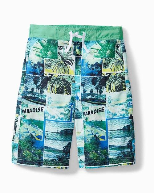 Big Boys' Paradise Swim Trunks