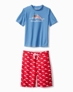 Little Boys' American Marlin Swim Set