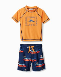 Little Boys' Shaka Shark Swim Set