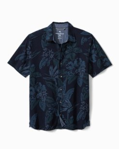 Indigo in Paradise Knit Camp Shirt
