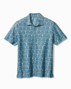 Breezeway Palms IslandZone® Knit Camp Shirt