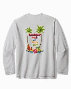 Beach Sign Long-Sleeve T-Shirt