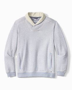Shawl We Relax Shawl-Collar Pullover