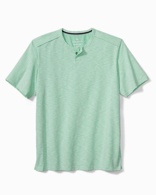 Fray Day Harbor IslandZone® Short-Sleeve Henley Shirt