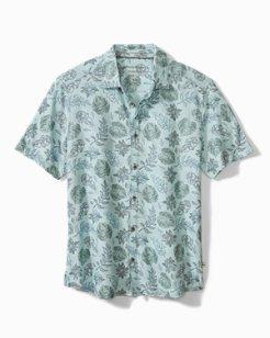 South Beach Bloom Knit Camp Shirt