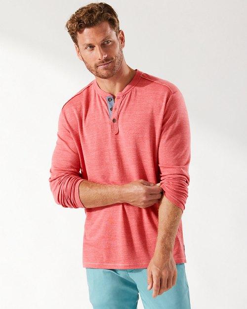 Oahu Shores Long-Sleeve Henley T-Shirt