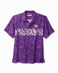 Collegiate Piña Plazzo Silk Camp Shirt