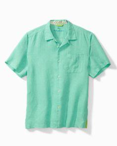 Tommy Bahama Sea Glass Breezer Short Sleeve Linen Shirt TR310623 $89.50 White