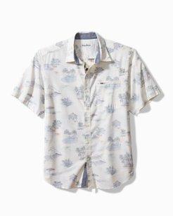 Surf Villa Stretch-Cotton Camp Shirt