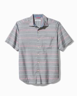 Sri Lanka Stripe Stretch-Cotton Camp Shirt
