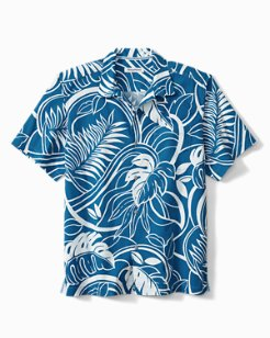 Luau Blooms Stretch-Cotton Camp Shirt