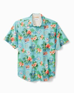 Aloha From Paradise Stretch-Cotton Camp Shirt