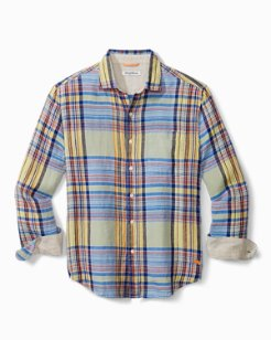 Veranda Plaid Linen Shirt