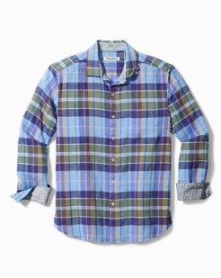 Minar Madras Stretch-Linen Shirt