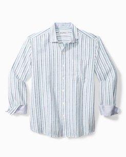 Luna Stripe Stretch-Linen Shirt