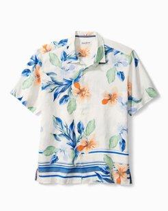 Agra Blooms Linen Camp Shirt