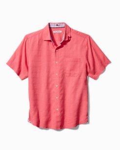 Coasta Capri Stretch-Linen Camp Shirt