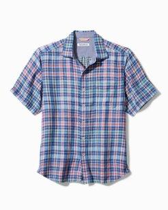 Tiamo Bay Plaid Camp Shirt