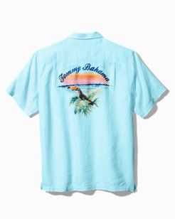 Toucan Sunset Linen Camp Shirt
