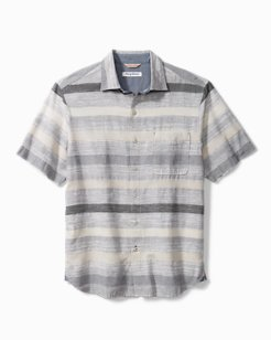 Sandy Beach Stripe Camp Shirt