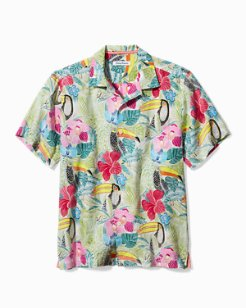 If One Can Toucan Linen Camp Shirt