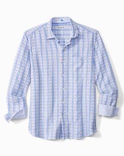 Verde Azul Check Stretch-Linen Shirt