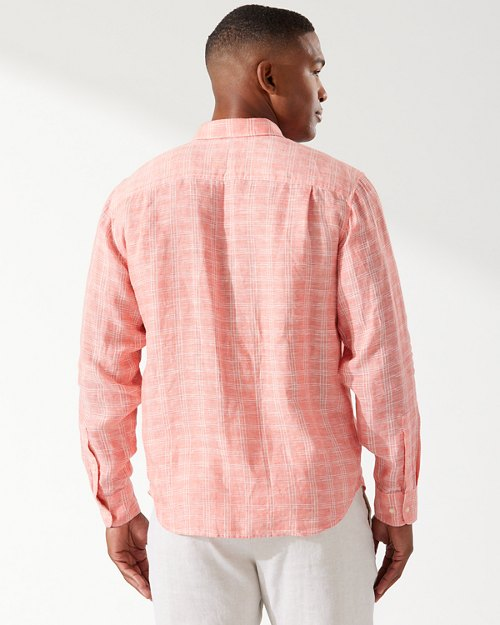 Ventana Plaid Linen Shirt