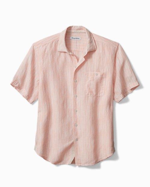 Sand Linen Valencia Stripe Camp Shirt