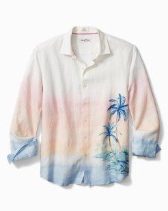 Vista Beach Palms Linen Shirt
