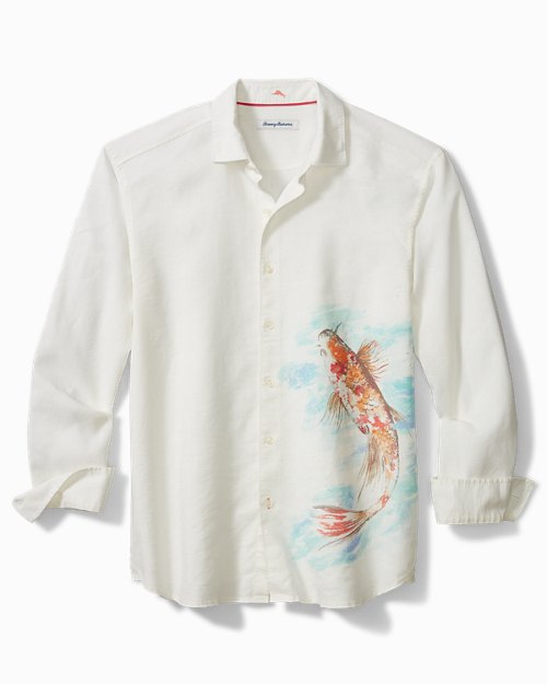 Koi Seas Stretch-Linen Shirt