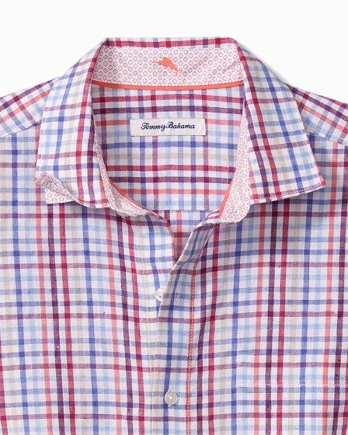Mahalo Check Stretch-Linen Shirt