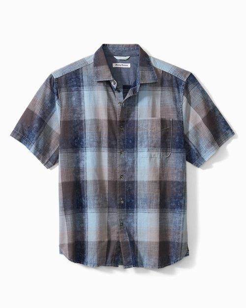 Azul Ombré Check Camp Shirt