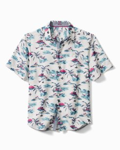 Coconut Point Sunset At Sea IslandZone® Camp Shirt