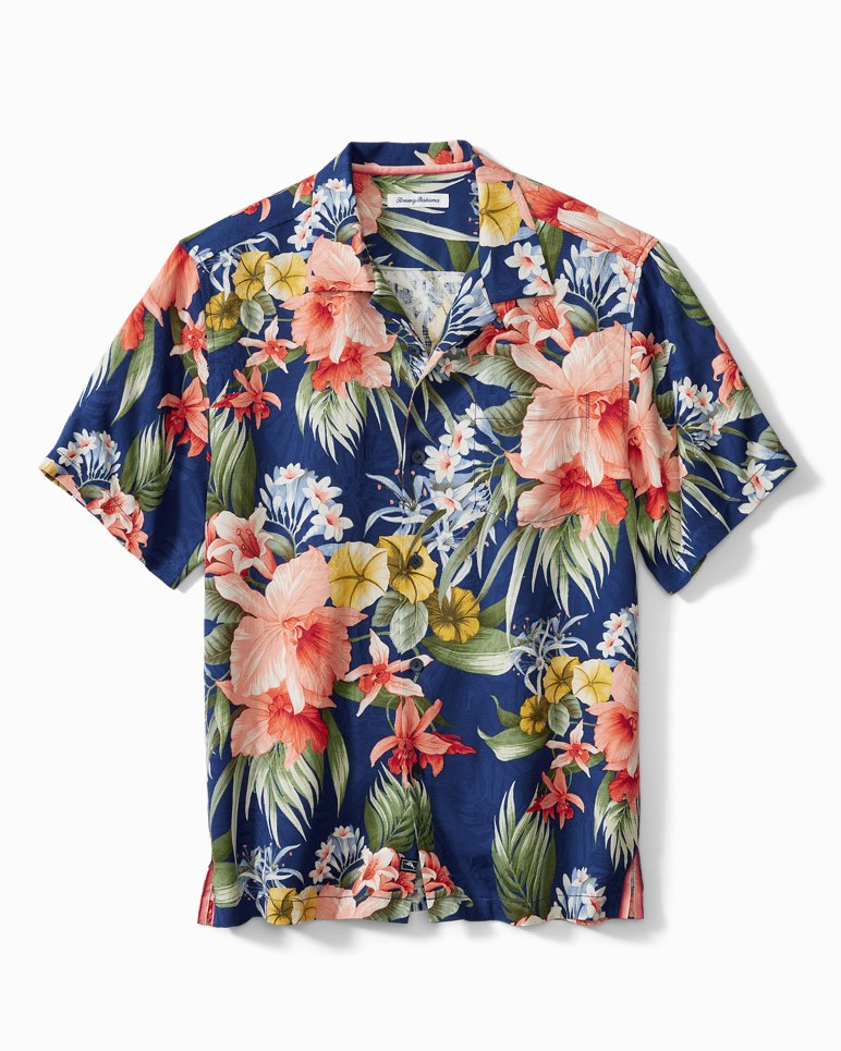 1960s Mens Shirts   60s Mod Shirts, Hippie Shirts Canopy Kaleidoscope Camp Shirt $138.00 AT vintagedancer.com