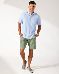Coconut Point Micro Check IslandZone® Camp Shirt