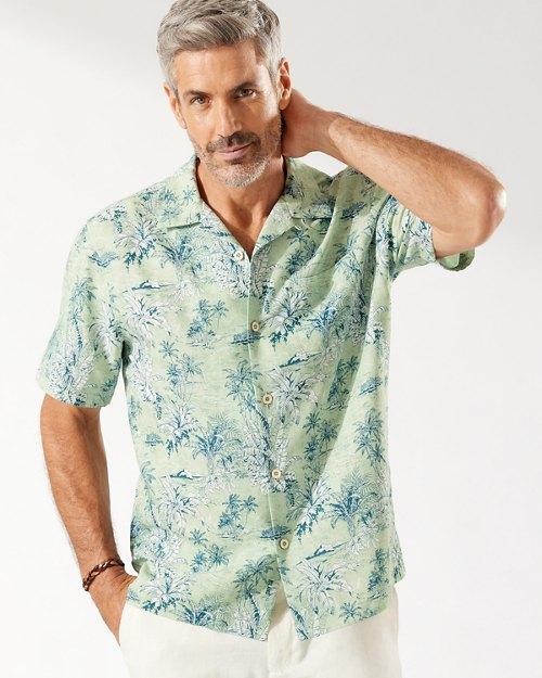Coconut Point Palm Outback Isla IslandZone® Camp Shirt