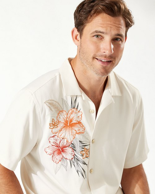 Oceania Hibiscus Camp Shirt
