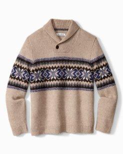Alpine Bay Shawl-Neck Sweater
