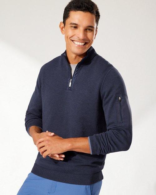 IslandZone® Coolside Active Half-Zip Sweater