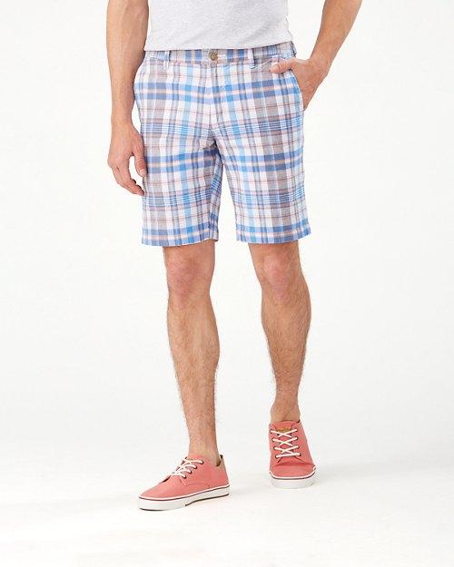 Coastal Pier Plaid 10-Inch Shorts