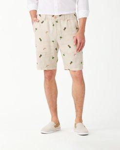 Flamingo Tango Linen 10-Inch Shorts