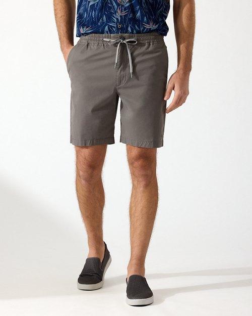 Oceanside Poplin Elastic-Waist 8-Inch Shorts
