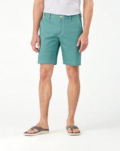 Boracay Geo Flat-Front 10-Inch Shorts