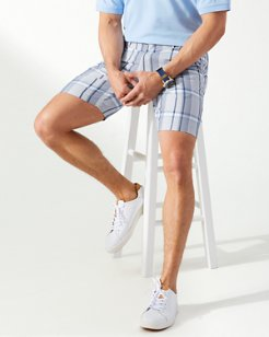 Harbor Point Plaid 10-Inch Shorts