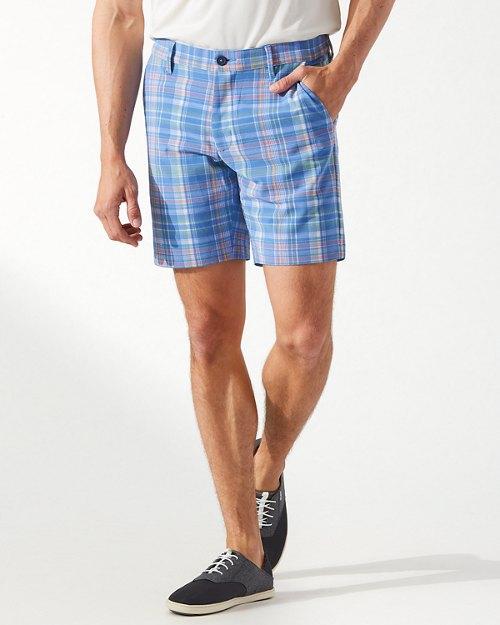 Beachfront Plaid IslandZone® 8-Inch Shorts
