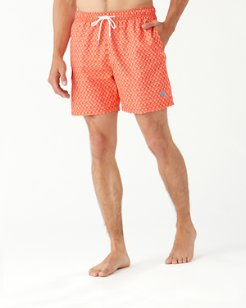 Naples Palms Away Geo 6-Inch Swim Trunks